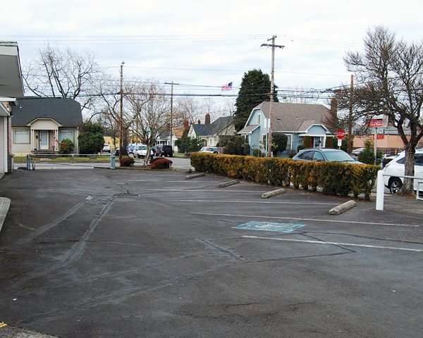north side parking area